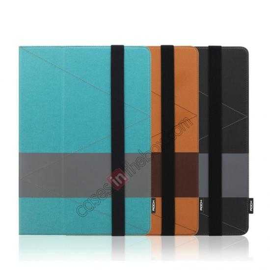 high quanlity Rock Fashion New Leather Stand Case for Samsung Galaxy Tab Pro 12.2 P900 - Blue