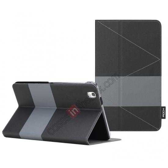 wholesale Rock Fashion New Leather Stand Case for Samsung Galaxy Tab pro 8.4 T320 - Black