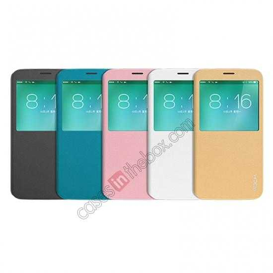 wholesale Rock Luxury Style Smart Side Flip Leather Case for Samsung Galaxy S5