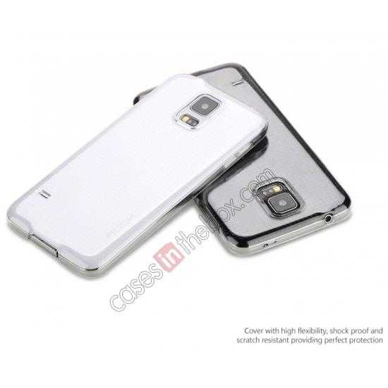 discount Rock PC 0.6mm Ultra Thin Back Case Cover for Samsung Galaxy S5 - Transparent Black