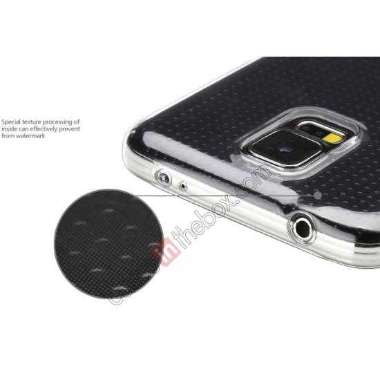 top quality Rock PC 0.6mm Ultra Thin Back Case Cover for Samsung Galaxy S5 - Transparent Black