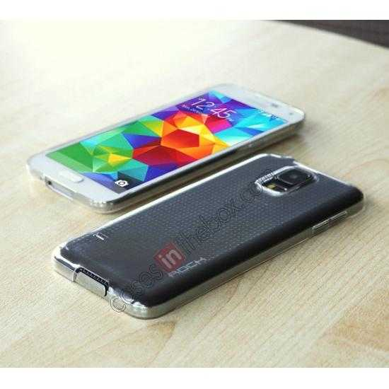best price Rock PC 0.6mm Ultra Thin Back Case Cover for Samsung Galaxy S5 - Transparent Black