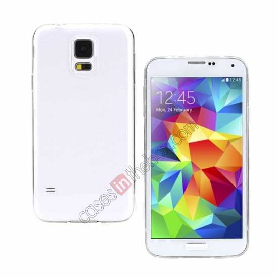 wholesale Rock PC 0.6mm Ultra Thin Back Case Cover for Samsung Galaxy S5 - Transparent