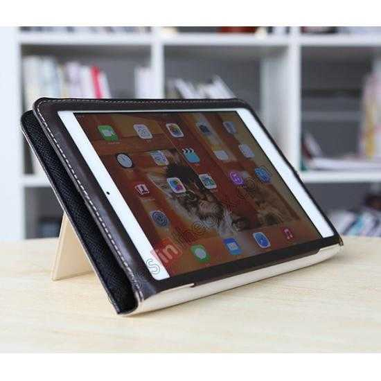 low price Rock Reach Series 100% Real Genuine Cowhide Leather Case for iPad Mini 2 Retina