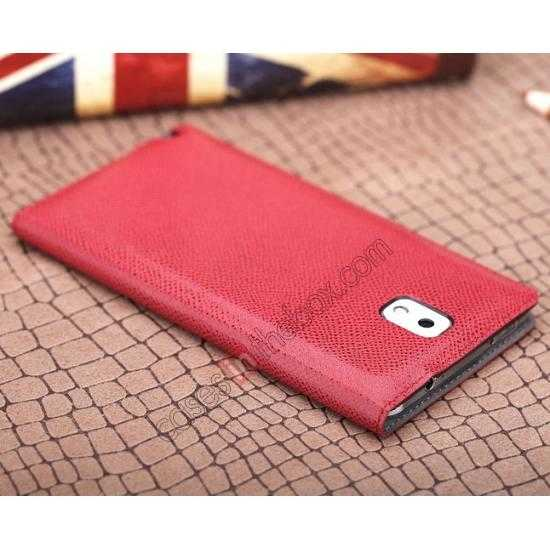 on sale Rock Reach Series 100% Real Genuine Cowhide Leather Case for Samsung Galaxy Note 3 - Red