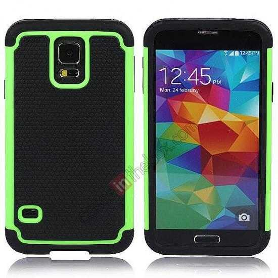 wholesale Rugged Impact Hybrid Hard Back Case Cover For Samsung Galaxy S5 - Green