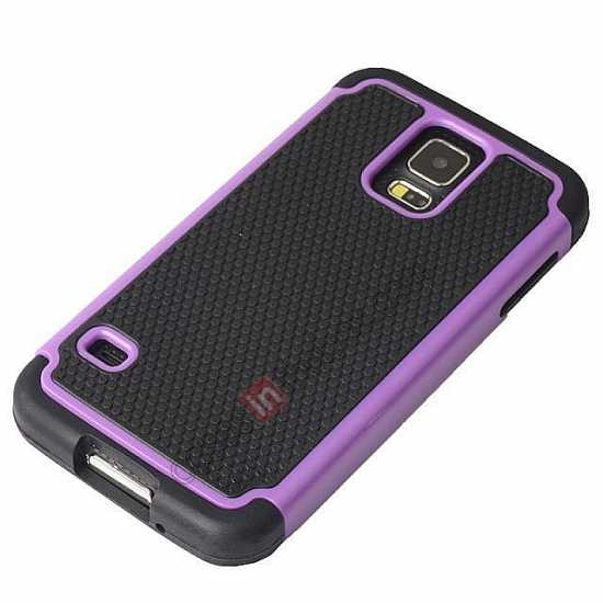 discount Rugged Impact Hybrid Hard Back Case Cover For Samsung Galaxy S5 - Grey