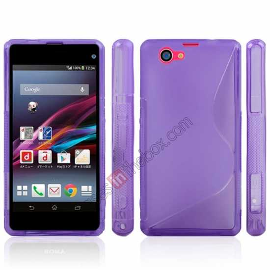 discount S-Line Wave Gel TPU Case Cover For Sony Xperia Z1 Compact(M51W) - Black