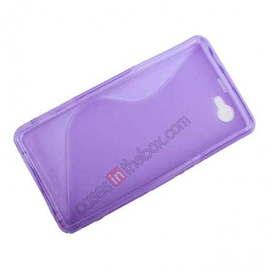 cheap S-Line Wave Gel TPU Case Cover For Sony Xperia Z1 Compact(M51W) - Transparent