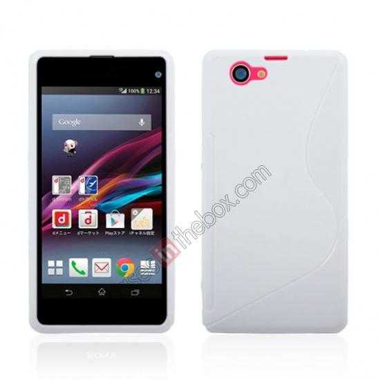 wholesale S-Line Wave Gel TPU Case Cover For Sony Xperia Z1 Compact(M51W) - White