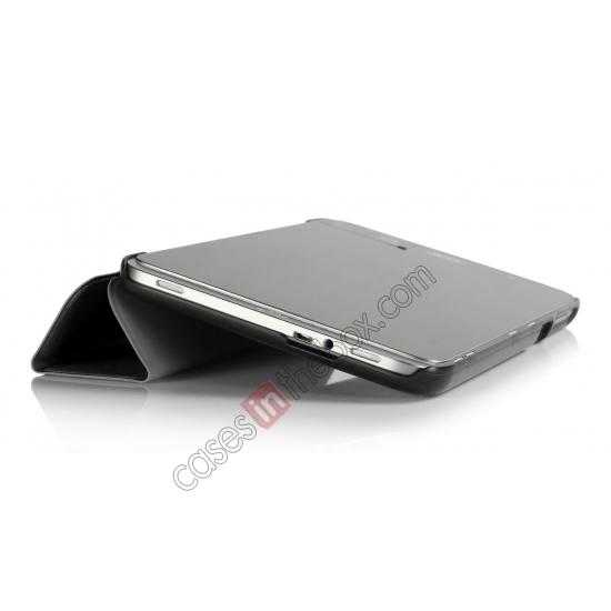 top quality Silk Pattern 3-Folding Leather Case Cover For 8 Acer Iconia W4-820 - Black