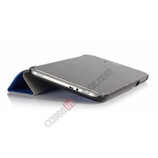top quality Silk Pattern 3-Folding Leather Case Cover For 8 Acer Iconia W4-820 - Blue