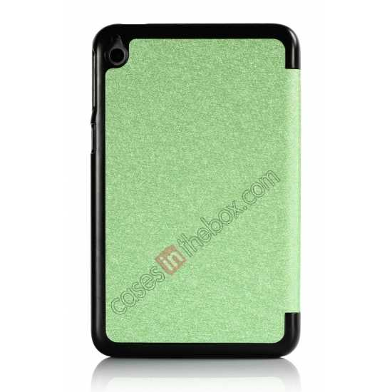on sale Silk Pattern 3-Folding Leather Case Cover For 8 Acer Iconia W4-820 - Green