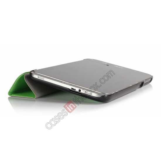 top quality Silk Pattern 3-Folding Leather Case Cover For 8 Acer Iconia W4-820 - Green