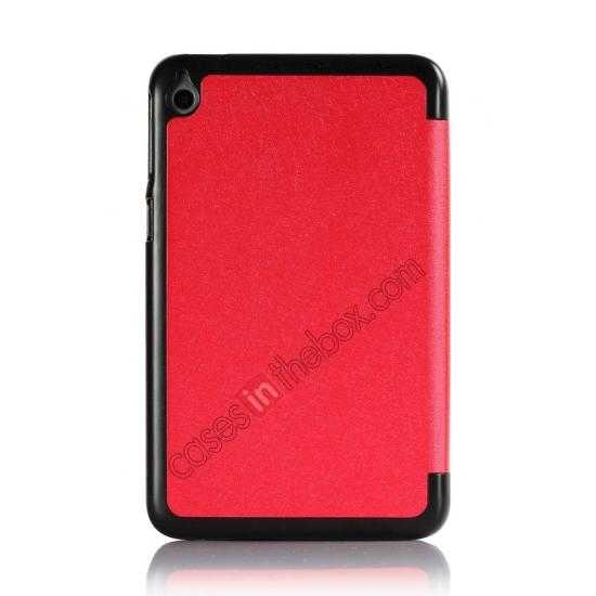 on sale Silk Pattern 3-Folding Leather Case Cover For 8 Acer Iconia W4-820 - Red