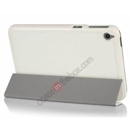 top quality Silk Pattern 3-Folding Leather Case Cover For 8 Acer Iconia W4-820 - White
