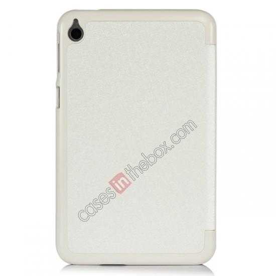 on sale Silk Pattern 3-Folding Leather Case Cover For 8 Acer Iconia W4-820 - White