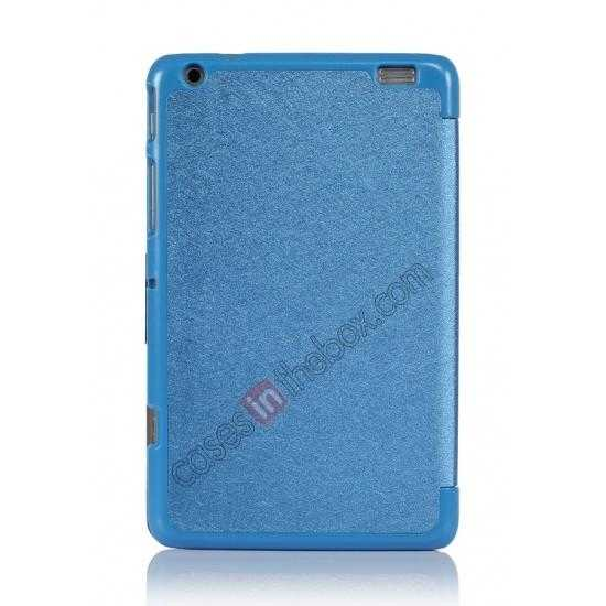 on sale Silk Pattern 3-Folding Leather Case Cover For Lenovo Ideatab Miix2 8 - Blue