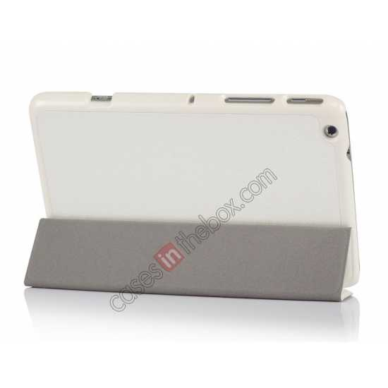 top quality Silk Pattern 3-Folding Leather Case Cover For Lenovo Ideatab Miix2 8 - White