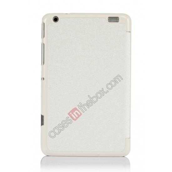on sale Silk Pattern 3-Folding Leather Case Cover For Lenovo Ideatab Miix2 8 - White