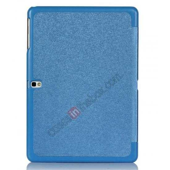 cheap Silk Pattern 3-Folding Leather Case Cover For Samsung Galaxy Tab Pro 10.1 T520 - Blue