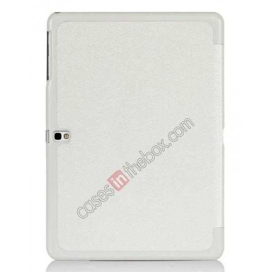 cheap Silk Pattern 3-Folding Leather Case Cover For Samsung Galaxy Tab Pro 10.1 T520 - White