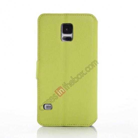 cheap South Korea Pattern Wallet Leather Stand Case for Samsung Galaxy S5 G900 - Green
