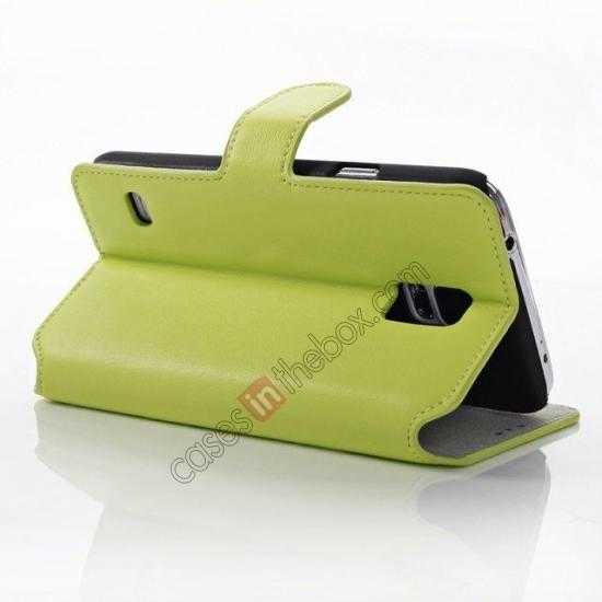 wholesale South Korea Pattern Wallet Leather Stand Case for Samsung Galaxy S5 G900 - Green