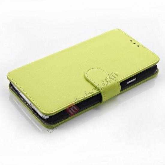 top quality South Korea Pattern Wallet Leather Stand Case for Samsung Galaxy S5 G900 - Green