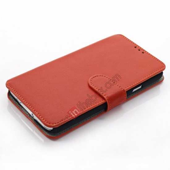 top quality South Korea Pattern Wallet Leather Stand Case for Samsung Galaxy S5 G900 - Orange