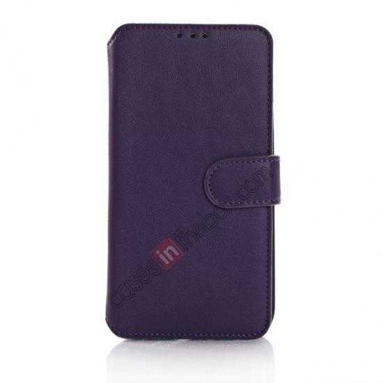 discount South Korea Pattern Wallet Leather Stand Case for Samsung Galaxy S5 G900 - Purple