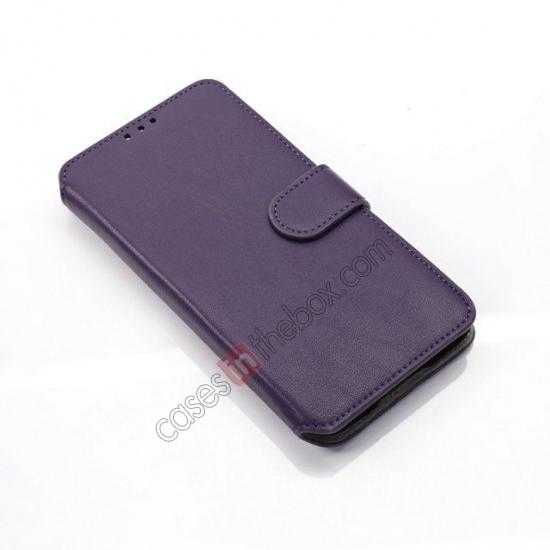 cheap South Korea Pattern Wallet Leather Stand Case for Samsung Galaxy S5 G900 - Purple