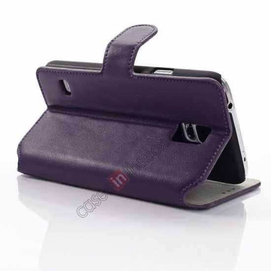 wholesale South Korea Pattern Wallet Leather Stand Case for Samsung Galaxy S5 G900 - Purple