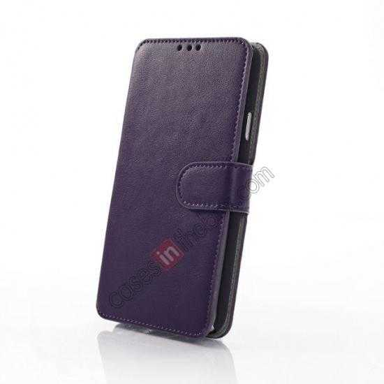 best price South Korea Pattern Wallet Leather Stand Case for Samsung Galaxy S5 G900 - Purple