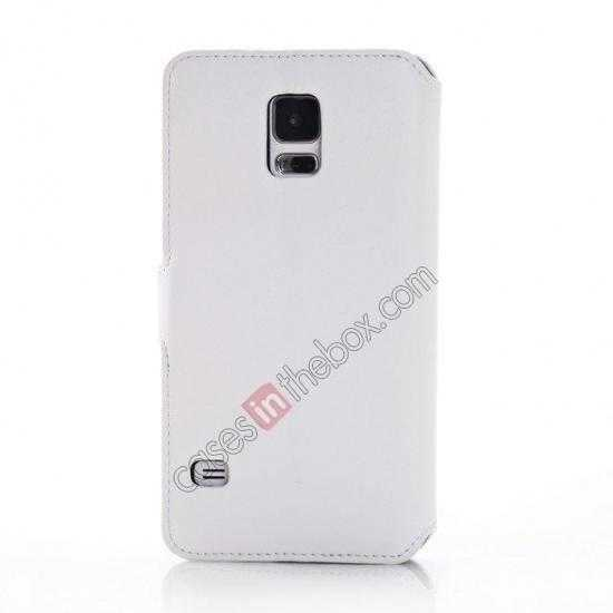 top quality South Korea Pattern Wallet Leather Stand Case for Samsung Galaxy S5 G900 - White