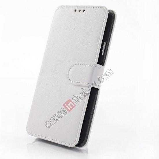 best price South Korea Pattern Wallet Leather Stand Case for Samsung Galaxy S5 G900 - White