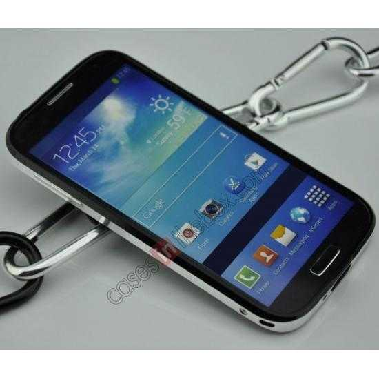 discount Sword Aluminum Metal Bumper Case For Samsung Galaxy S4 i9500 - Black