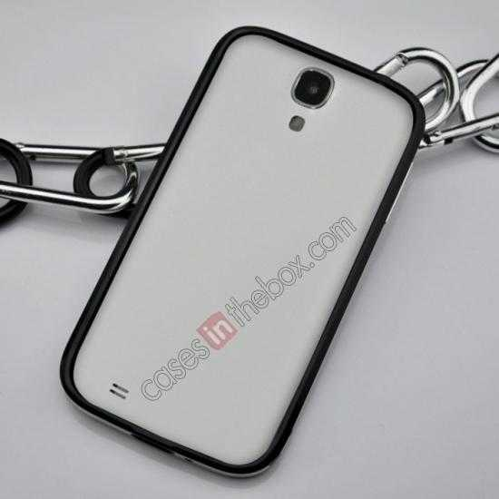 cheap Sword Aluminum Metal Bumper Case For Samsung Galaxy S4 i9500 - Black