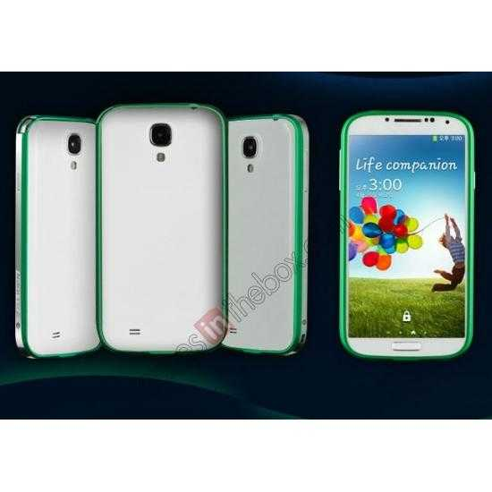 wholesale Sword Aluminum Metal Bumper Case For Samsung Galaxy S4 i9500 - Green