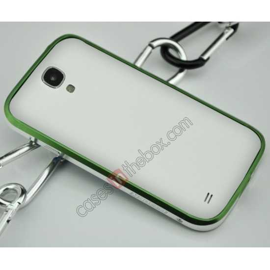 cheap Sword Aluminum Metal Bumper Case For Samsung Galaxy S4 i9500 - Green