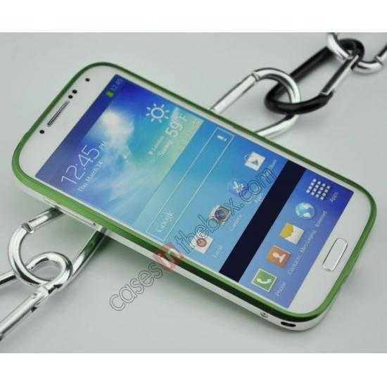 discount Sword Aluminum Metal Bumper Case For Samsung Galaxy S4 i9500 - Green