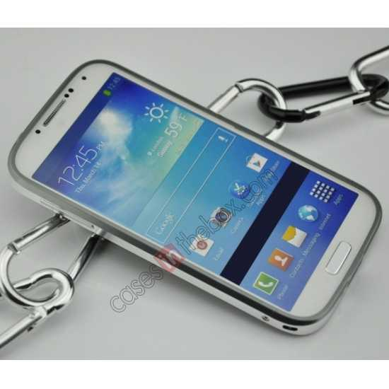 cheap Sword Aluminum Metal Bumper Case For Samsung Galaxy S4 i9500 - Grey