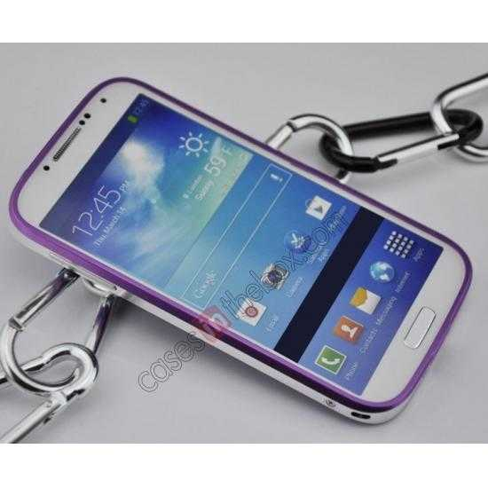 discount Sword Aluminum Metal Bumper Case For Samsung Galaxy S4 i9500 - Red