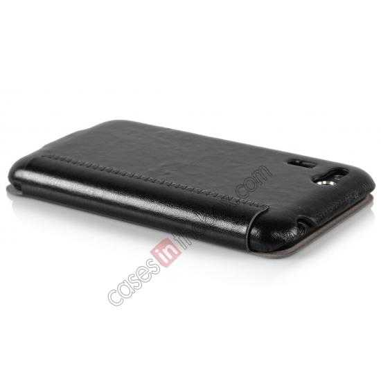 top quality Ultra Slim Leather Wallet Case Cover for ASUS PadFone Mini 4.3 inch - Black