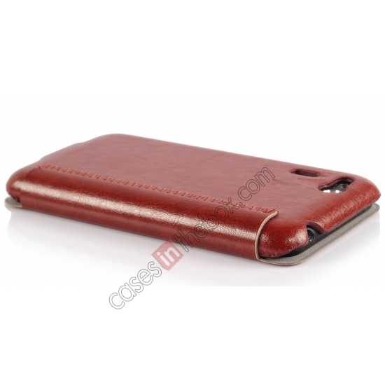 top quality Ultra Slim Leather Wallet Case Cover for ASUS PadFone Mini 4.3 inch - Brown