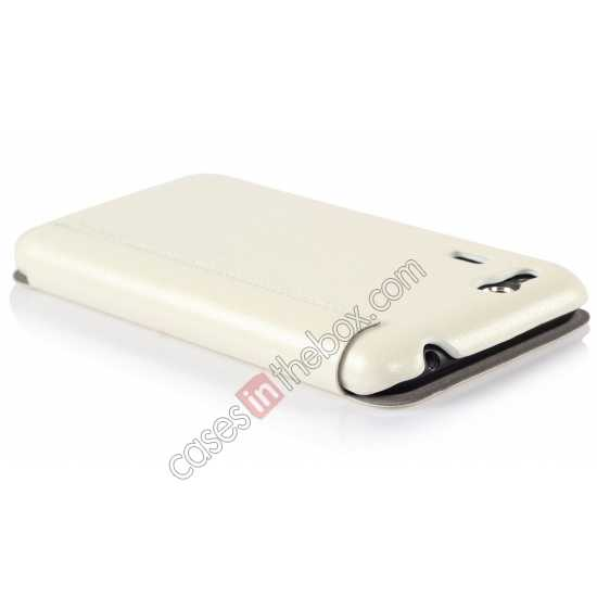 top quality Ultra Slim Leather Wallet Case Cover for ASUS PadFone Mini 4.3 inch - White