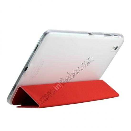top quality Ultra Slim Smart Leather Magnetic Stand Case Cover For Samsung Galaxy Tab Pro 8.4 T320 - Rose red