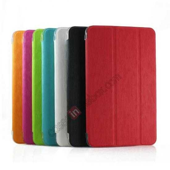 on sale Ultra Slim Smart Leather Magnetic Stand Case Cover For Samsung Galaxy Tab Pro 8.4 T320 - Rose red