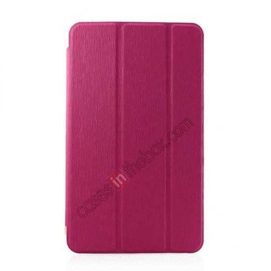 wholesale Ultra Slim Smart Leather Magnetic Stand Case Cover For Samsung Galaxy Tab Pro 8.4 T320 - Rose red