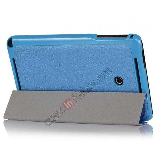 wholesale Ultra Slim Tri Fold Leather Case Cover for ASUS VivoTab Note8 M80TA - Blue